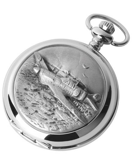 'Hurricane' Quartz Pocket Watch with Chain